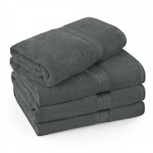 Komplet ręczników frotte KOMFORT 3 szt. 50x100 + 1 szt. 70x140 566-94 grafit