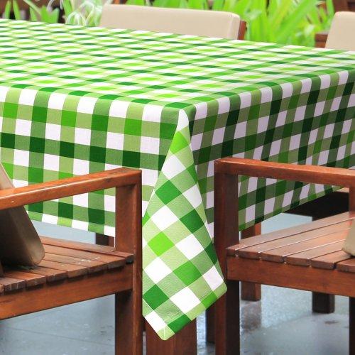 Obrus plamoodporny PICNIC 439-03 biało zielony