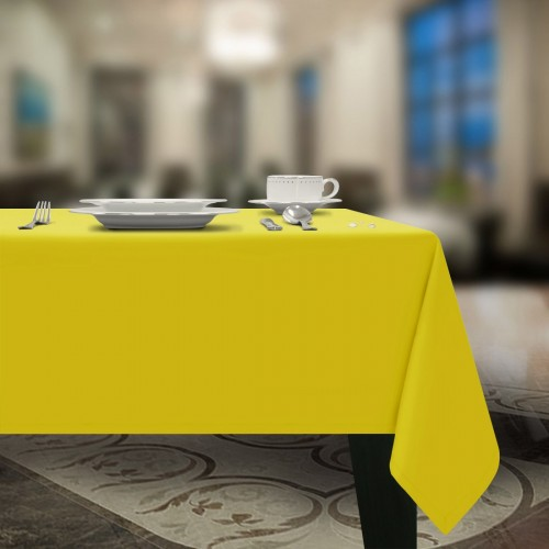 Gładki obrus plamoodporny żółty gold