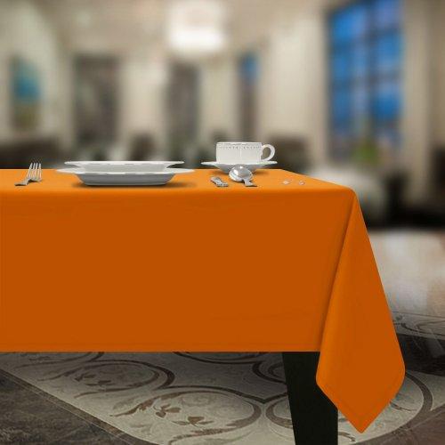 Gładki obrus plamoodporny pomarańcz gold