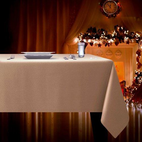 Obrus plamoodporny ELEGANCE 400-35 szampański ciemny