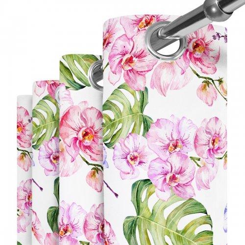 Zasłona gotowa na przelotkach D404-125-01 Orchidea