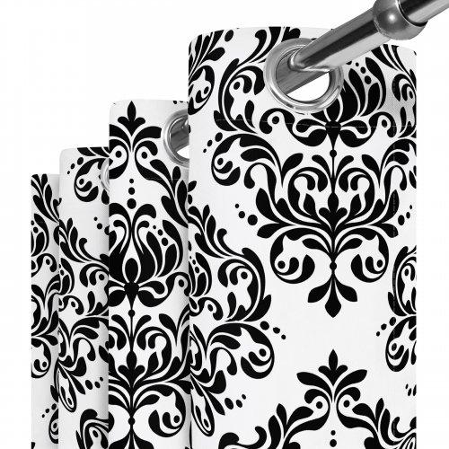 Zasłona gotowa na przelotkach D404-143-01 Barokowy Ornament