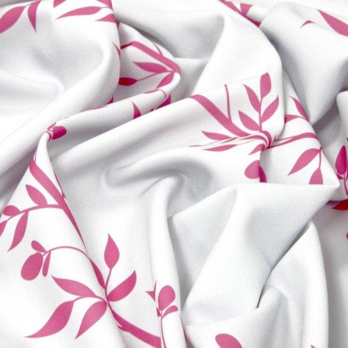 Zasłona gotowa na taśmie D110-01 Różowe Pnącza