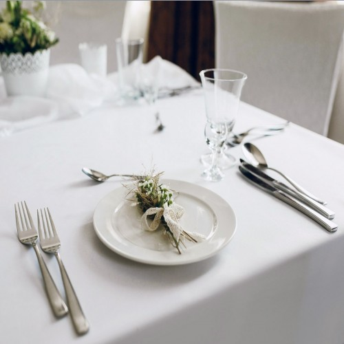 OUTLET Biały obrus bawełniany COMFORT WHITE 418-01