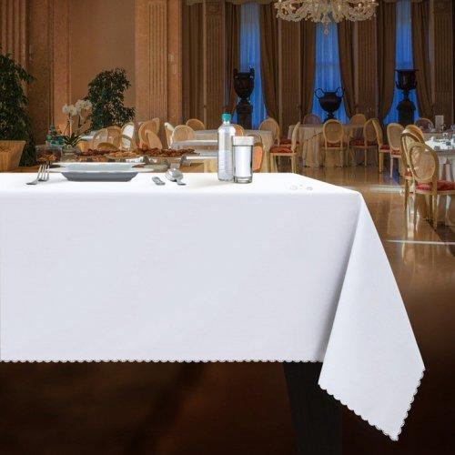 OUTLET Obrus plamoodporny gładki WEDDING & GASTRO PUB biały