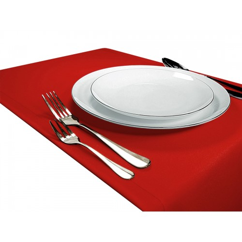 OUTLET Bieżnik na stół GŁADKI STANDARD 404-45 czerwony mocny