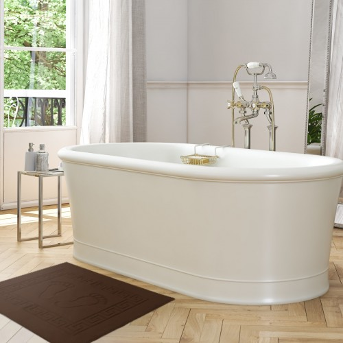 OUTLET Dywanik łazienkowy ANTYPOŚLIZGOWY 50x70 210-28 brąz jasny