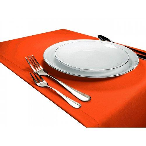 OUTLET Bieżnik na stół GŁADKI STANDARD 404-52 pomarańcz mocny