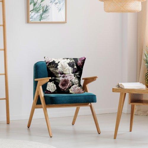 Zdjęcia nagłówek - Poszewka dekoracyjna z drukowanej tkaniny kwiatowy y wzór