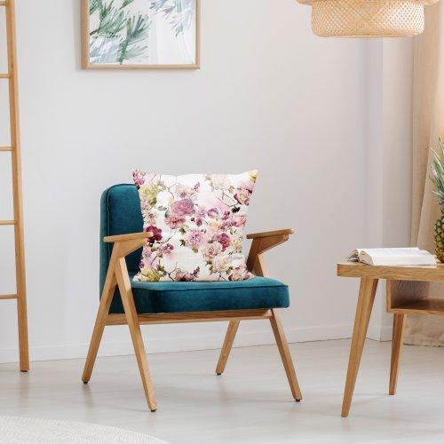 Zdjęcia nagłówek - Poszewka dekoracyjna z drukowanej tkaniny kwiatowy wzór