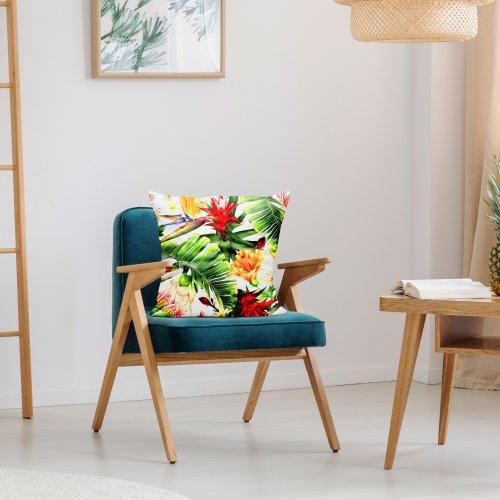 Poszewka dekoracyjna drukowana D404-134-01 egzotyczny kwiat