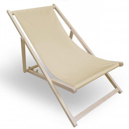 Leżak drewniany do ogrodu lub na plażę 599 434-17-35 beż jasny