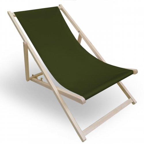Leżak drewniany do ogrodu lub na plażę 599 434-18-40 khaki