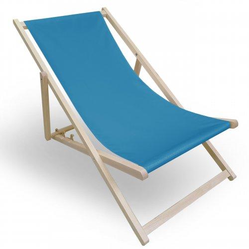 Leżak drewniany do ogrodu lub na plażę 599 434-25-92 turkus ciemny