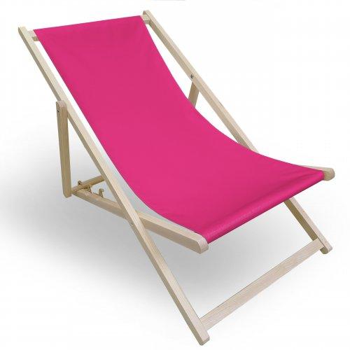 Leżak drewniany do ogrodu lub na plażę 599 434-34-11 róż mocny