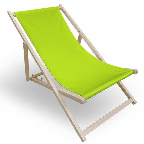 Leżak drewniany do ogrodu lub na plażę 599 434-35-96 limonka jasna