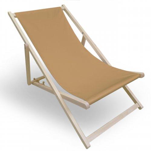 Leżak drewniany do ogrodu lub na plażę 599 434-37-57 latte