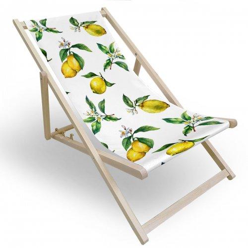 Leżak drewniany do ogrodu lub na plażę 599 434-107-01 cytrynki