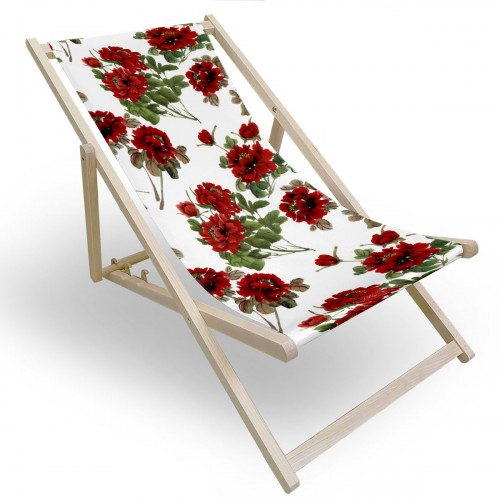 Leżak drewniany do ogrodu lub na plażę