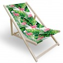 Leżak drewniany do ogrodu lub na plażę 599 434-693-01 flamingi