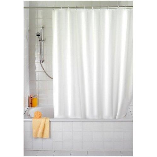 Zasłona prysznicowa z zaczepami 180x200cm beżowa