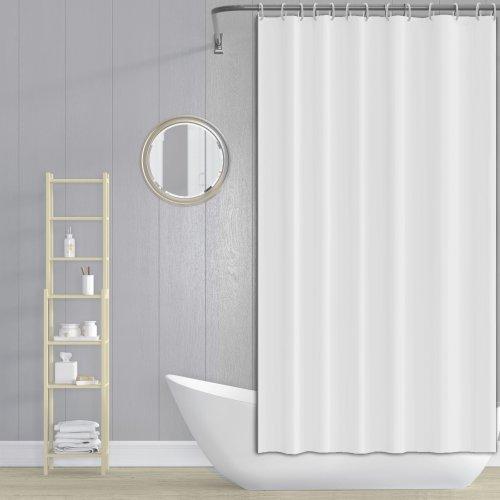 Zasłona prysznicowa z zaczepami 180x200cm biała