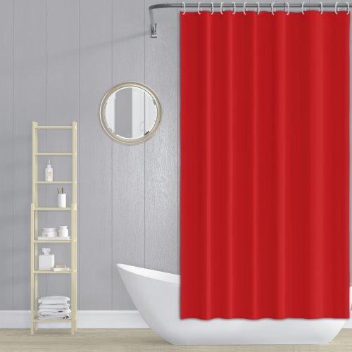 Zasłona prysznicowa z zaczepami 180x200cm czerwona
