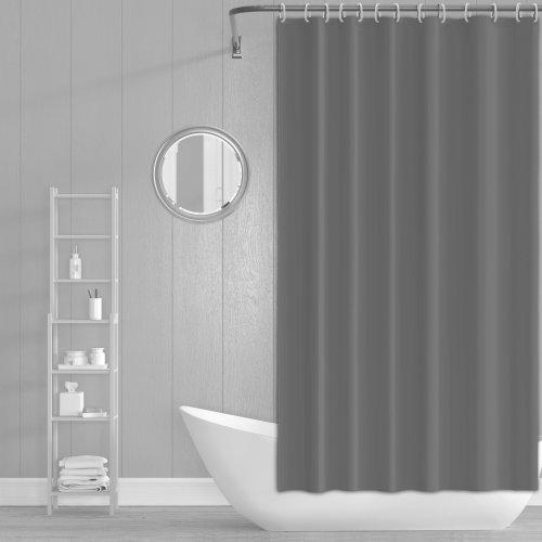 Zasłona prysznicowa z zaczepami 180x200cm szara