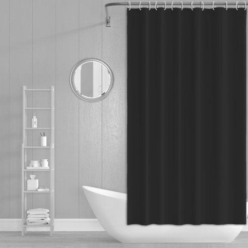 Zasłona prysznicowa z zaczepami 180x200cm czarna