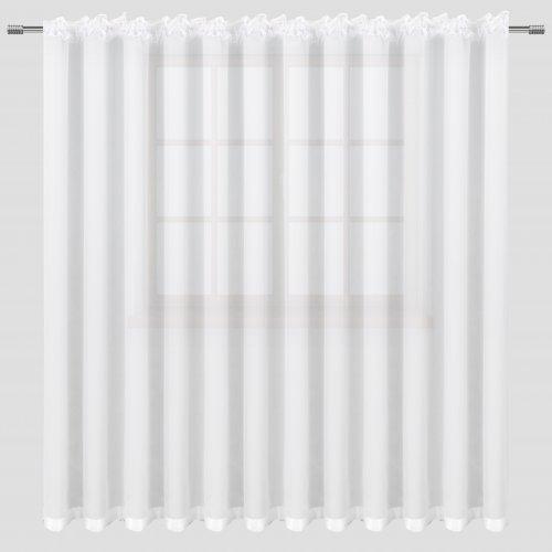 Firana 400x250 z lamówką taśma 682-81 biała