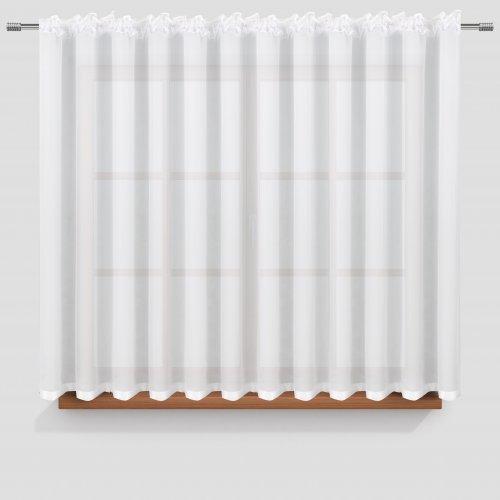Firana na Taśmie 400x150 z lamówką 681-80 biała