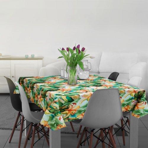 Obrus Plamoodporny D549-115 Kwiaty Malowane Farbami