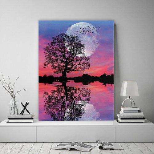 Obraz na płótnie CANVAS 60x80 B114 Drzewo Nocą