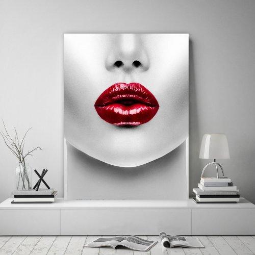 Obraz na płótnie CANVAS 60x80 B127 Kobiece usta