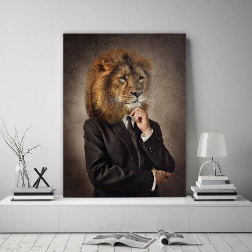 Obraz na płótnie CANVAS 60x80 B176 Człowiek z głową lwa