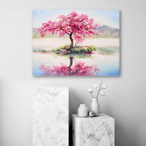 Obraz na płótnie CANVAS 80x60 C125 Samotne drzewo
