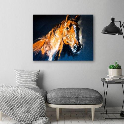 Obraz na płótnie CANVAS 80x60 C129 Koń