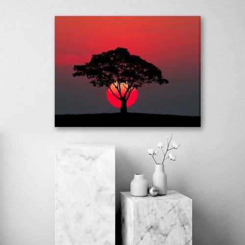 Obraz na płótnie CANVAS 80x60 C143 Czerwone słońce
