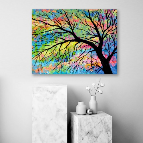 Obraz na płótnie CANVAS 80x60 C148 Jesienne drzewo