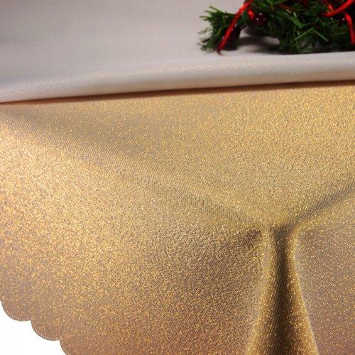 Obrus Świąteczny gładki CHRISTMAS GOLD 458-63 złoty