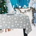 Obrus Świąteczny ŚNIEŻYNKA Boże Narodzenie 914-31-01 szary jasny