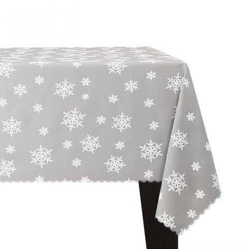 Obrus Świąteczny ŚNIEŻYNKA Boże Narodzenie 914-01-01 biały