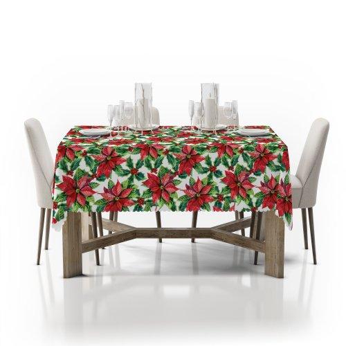 Obrus świąteczny na stół D549-776-01wp gwiazda betlejemska