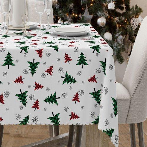 Obrus świąteczny na stół D549-780-01wp choinki