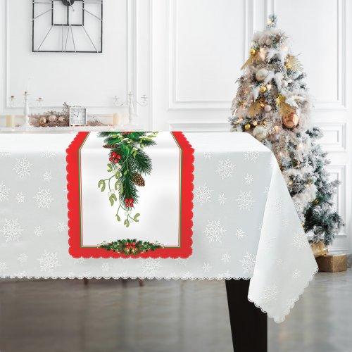 Bieżnik świąteczny na Boże Narodzenie D549-832wp