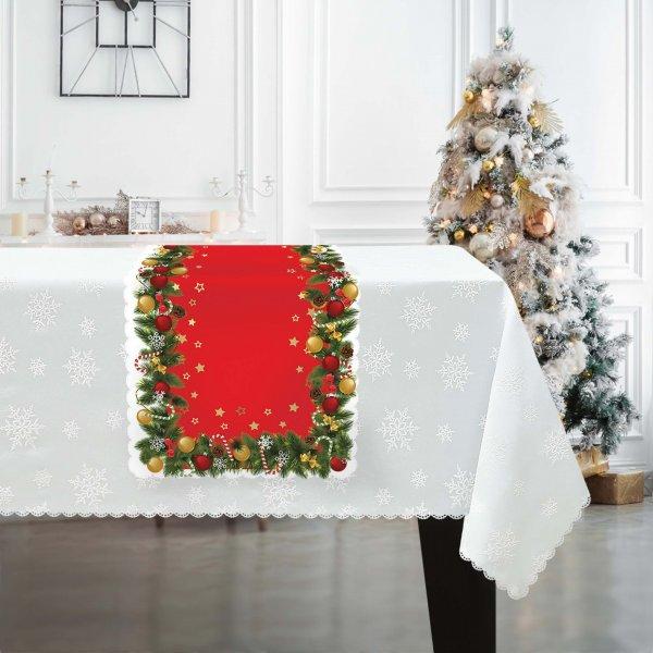 Bieżnik świąteczny na Boże Narodzenie D549-833wp