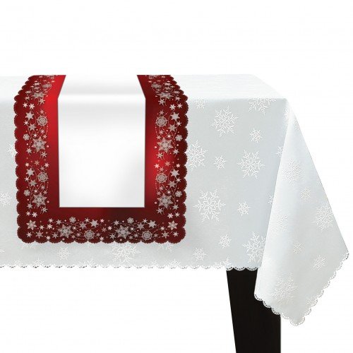 Bieżnik świąteczny na Boże Narodzenie D549-836wp