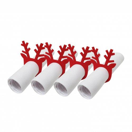Pierścienie - obrączki na serwetki z filcu 4szt 792-12-02 Rogi czerwone