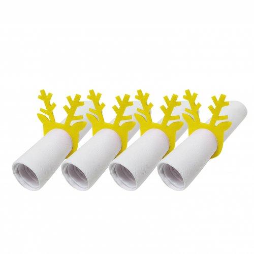 Pierścienie - obrączki na serwetki z filcu 4szt 792-05-02 Rogi żółte